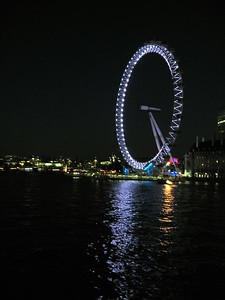 The London Eye. At the time of its construction in 1999, it was the tallest observation wheel in the world.