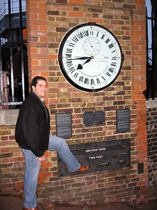 Craig tests the standard foot among the standard measures at the Royal Observatory, Greenwich