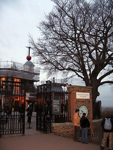 The Royal Observatory, Greenwich.  Note the Shepard Gate Clock, and the orange Time Ball, which has dropped every day at 1pm since 1833.