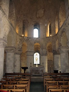 The Chapel of St. John the Evangelist, on the second floor of the White Tower.  Built in 1080, it is the oldest church in London.