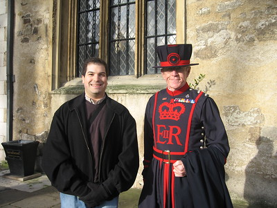 Craig, with a Yeoman Warder
