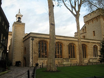 The Chapel Royal of St. Peter ad Vincula, built in 1520 and the parish church of the Tower of London.  Many of the the most famous prisoners executed at the Tower are buried here, including Anne Boleyn, Catherine Howard, Lady Jane Grey, and (except for his head), Thomas More.