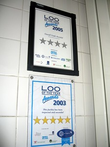 The restroom near the Jewel House gift shop has received a number of Loo of the Year awards.