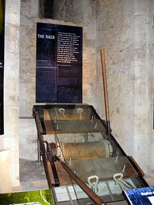 Example of the rack, used to torture prisoners at the Tower