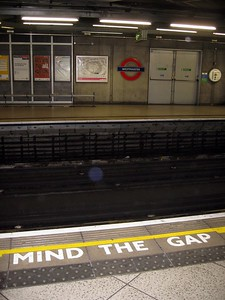 "Warning in the London Underground (a.k.a ""The Tube"") to ""Mind the Gap"""