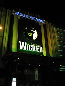 The London production of Wicked, at the Apollo Victoria Theatre