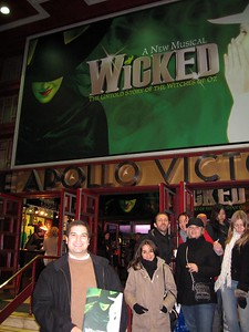 Craig at the London production of Wicked, at the Apollo Victoria Theatre