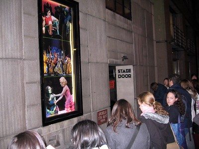 The stage door at the Apollo Victoria Theatre