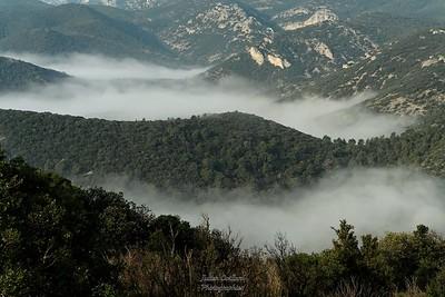 Brouillard dans les vallons du Luberon