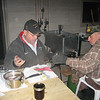 """GLENN GOESSL & JOHN ALEXANDER FILLING & CAPPING THE JARS OF """"GOOD STUFF""""  3/06"""
