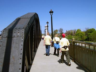Crossing the Ford Street Bridge
