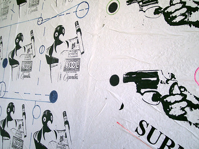 Graffiti - Penguins and Guns