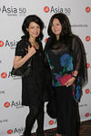 Vivienne Tam & Susan Shin at the Asia Society Collectors and Young Patrons Dinner following International Art Fair Benefit Preview