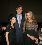 Vivienne Tam, Charles Rockefeller & ?  at the Asia Society Collectors and Young Patrons Dinner following International Art Fair Benefit Preview