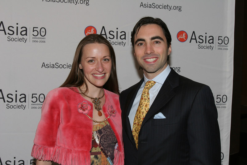 "<a href=""http://www.larahelene.com/about2.html"">Lara Meiland</a> & Claude Shaw at Asia Society Collectors and Young Patrons Dinner following International Art Fair Benefit Preview"