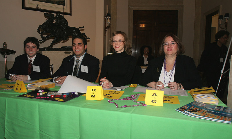 Table Check In (L-R)Henry Street Settlement Volunteers Robert Raphael, Arun Gupta, Laura Michonski & Diane Rubin
