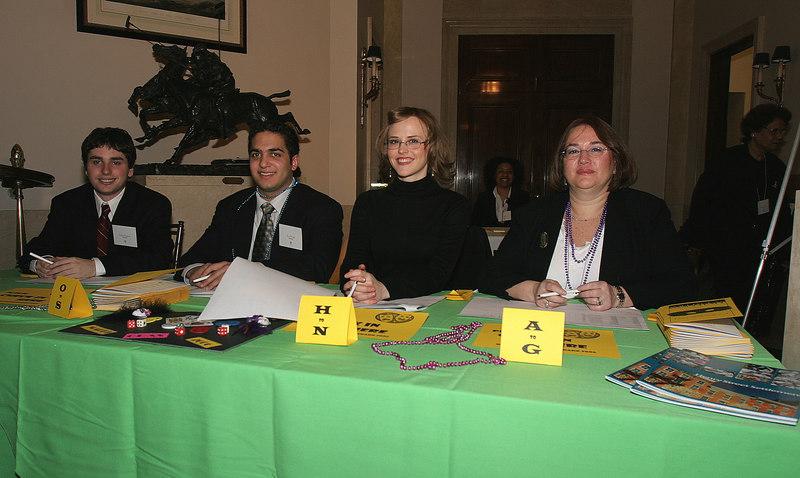 Table Check In (L-R)Henry Street Settlement Volunteers Robert Raphael, Arun Gupta, Laura Michonski & Diane Rubin
