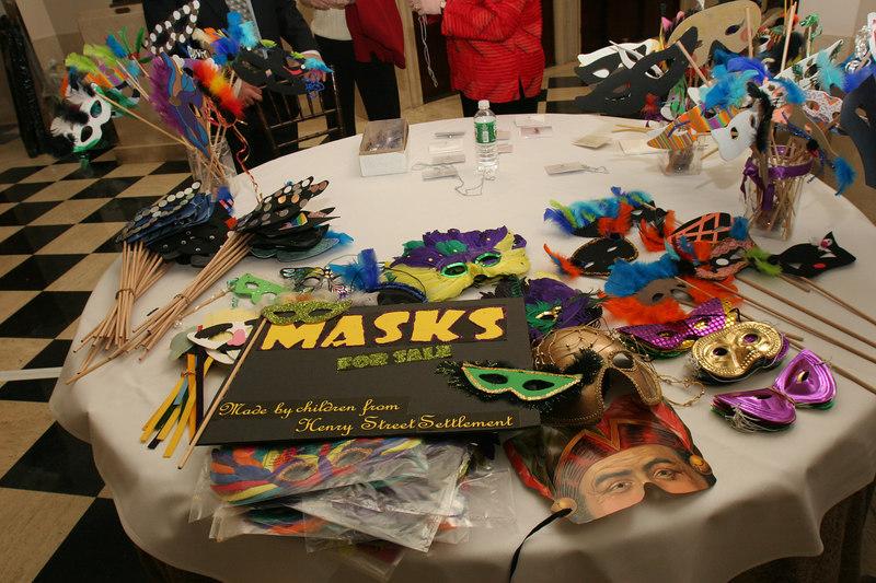"Masks made by the children from <a href=""http://www.henrystreet.org"">Henry Street Settlement</a>"