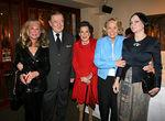 Elaine Sargent, Sirio Maccioni, Kitty Carlisle Hart, Liz Smith & Mary McFadden
