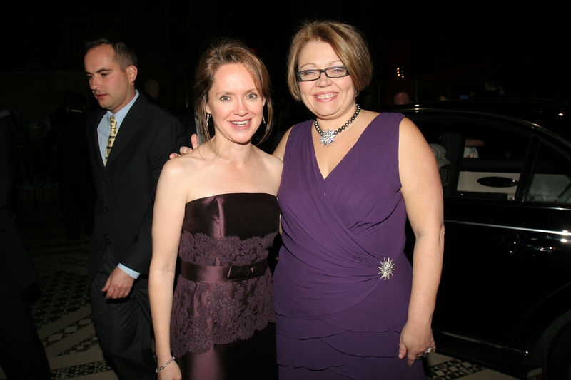 """NEW YORK-MARCH 4: Trisha G. Duval (Incoming NYJL President, July 1, 2006-June 30, 2008) with current and outgoing President Cynthia A. Cathcart  attend NEW YORK JUNIOR LEAGUE'S 54th Annual Winter Ball, """"Circo""""  at Cipriani 42nd Street, 110 East 42nd Street, New York City, New York on Friday, March 4, 2006 (Photo Credit: Christopher London/ManhattanSociety.com)"""