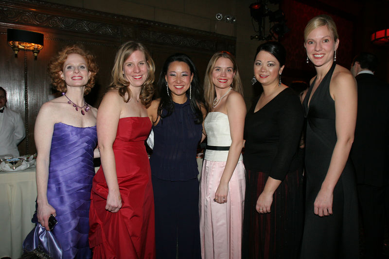 "NYJL Winter Ball Volunteers Stacy Zimring, Karen Dean, Karalesa Grier, Alessandra Murata & Vicki Rideout with Soo Won Hwang, NYJL Development Vice President, 2004-2006 (center) NEW YORK-MARCH 4: NYJL Guests attend NEW YORK JUNIOR LEAGUE'S 54th Annual Winter Ball, ""Circo""  at Cipriani 42nd Street, 110 East 42nd Street, New York City, New York on Friday, March 4, 2006 (Photo Credit: Christopher London/ManhattanSociety.com)"