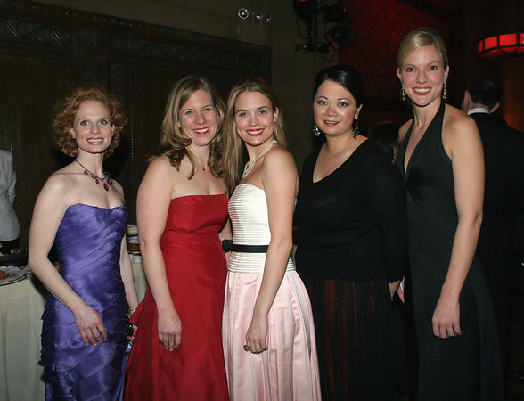 """Stacy Zimring, Karen Dean, Karalesa Grier, Alessandra Murata & Vicki Rideout NEW YORK-MARCH 4: NYJL Guests attend NEW YORK JUNIOR LEAGUE'S 54th Annual Winter Ball, """"Circo""""  at Cipriani 42nd Street, 110 East 42nd Street, New York City, New York on Friday, March 4, 2006 (Photo Credit: Christopher London/ManhattanSociety.com)"""
