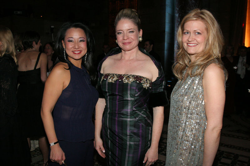 """NEW YORK-MARCH 4: Soo Won Hwang (Development Vice President, 2004-2006), <a href=""""http://www.nyjl.org/winterball/npo.jsp?pg=special3"""">Marion S. Hedges</a> (2006 Outstanding Volunteer) & NYJL Volunter & Designer Kristen McGinnis attend NEW YORK JUNIOR LEAGUE'S 54th Annual Winter Ball, """"Circo""""  at Cipriani 42nd Street, 110 East 42nd Street, New York City, New York on Friday, March 4, 2006 (Photo Credit: Christopher London/ManhattanSociety.com)"""