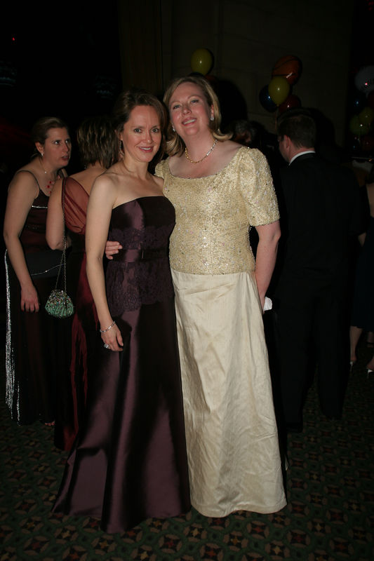 "Trisha G. Duval (Incoming NYJL President, July 1, 2006-June 30, 2008) with former NYJL President, Mary Beth C. Tully NEW YORK-MARCH 4: NYJL Guests attend NEW YORK JUNIOR LEAGUE'S 54th Annual Winter Ball, ""Circo""  at Cipriani 42nd Street, 110 East 42nd Street, New York City, New York on Friday, March 4, 2006 (Photo Credit: Christopher London/ManhattanSociety.com)"