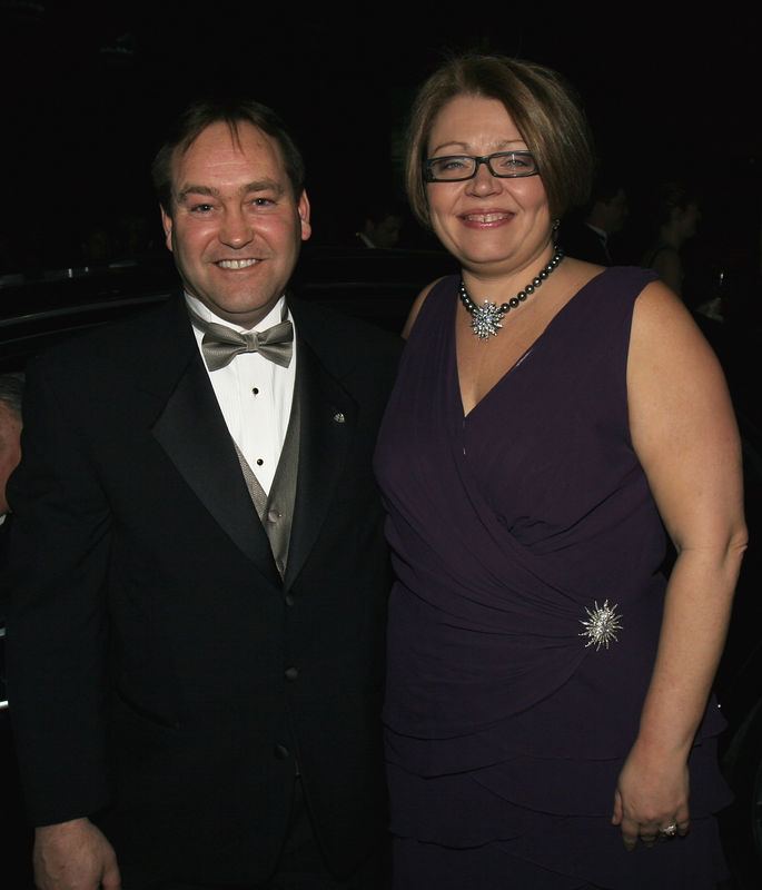 """NEW YORK-MARCH 4: Joseph J. Horneman, Maybach Relationship Manager & Cynthia A. Cathcart, NYJL President  attend NEW YORK JUNIOR LEAGUE'S 54th Annual Winter Ball, """"Circo""""  at Cipriani 42nd Street, 110 East 42nd Street, New York City, New York on Friday, March 4, 2006 (Photo Credit: Christopher London/ManhattanSociety.com)"""