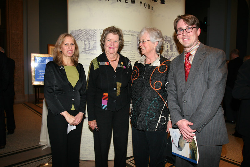 (L-R)Louise Mirrer and VIP Guests at the preview and reception at the New York Historical Society