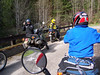 The cameras out numbered the riders on this trip.