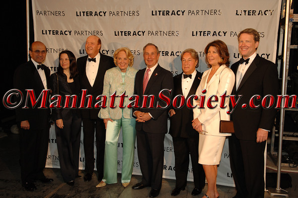 "(L-R) <a href=""http://www.nycenet.edu/Administration/mediarelations/ChancellorsBiography/Chancellors+Bio.htm"">Joel Klein</a> and <a href=""http://www.sony.com/SCA/bios/seligman.shtml"">Nicole Seligman</a>, Parker Ladd, Liz Smith, Mayor Michael Bloomberg, Arnold Scassio,<a href=""http://www.abcmedianet.com/executive/westin.shtml"">David Westin</a> and <a href=""http://www.sesameworkshop.org/aboutus/inside_management.php#westin"">Sherrie Rollins Westin</a>"