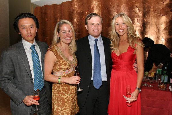 """Mukang Cho, Kathryn Forest, Harrison LeFrak and Jane Griffin at the <a href=""""http://www.rmanyc.org/"""">Rubin Museum of Art</a>, for  <a href=""""http://www.lsfrma.blogspot.com"""">The Little Sisters Fund Benefit</a>, a special event to raise funds for the <a href=""""http://littlesistersfund.org/"""">Little Sisters Fund</a>, an educational scholarship fund for at risk South Asian girls."""