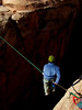Crossing the abyss on a highline causes you to forget what you knew about walking and start over with the basics.