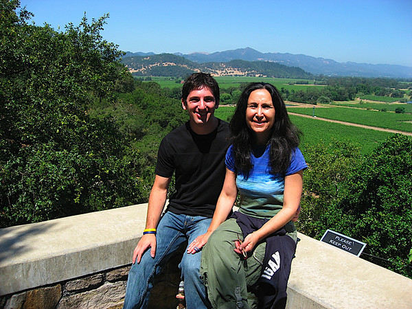 Mom and I at Silverado Vineyards