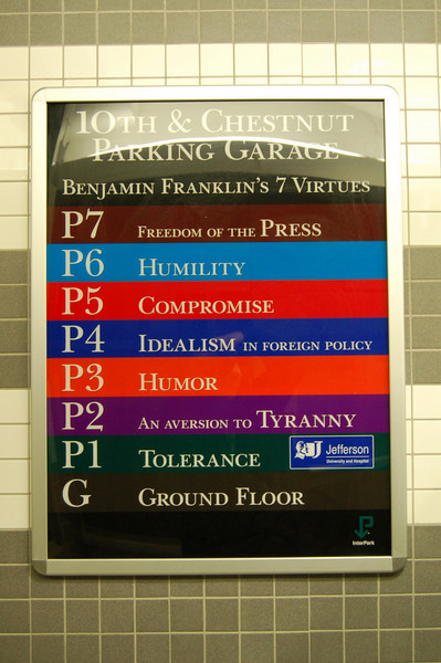 "Philly ""Ben Franklin"" parking garage"