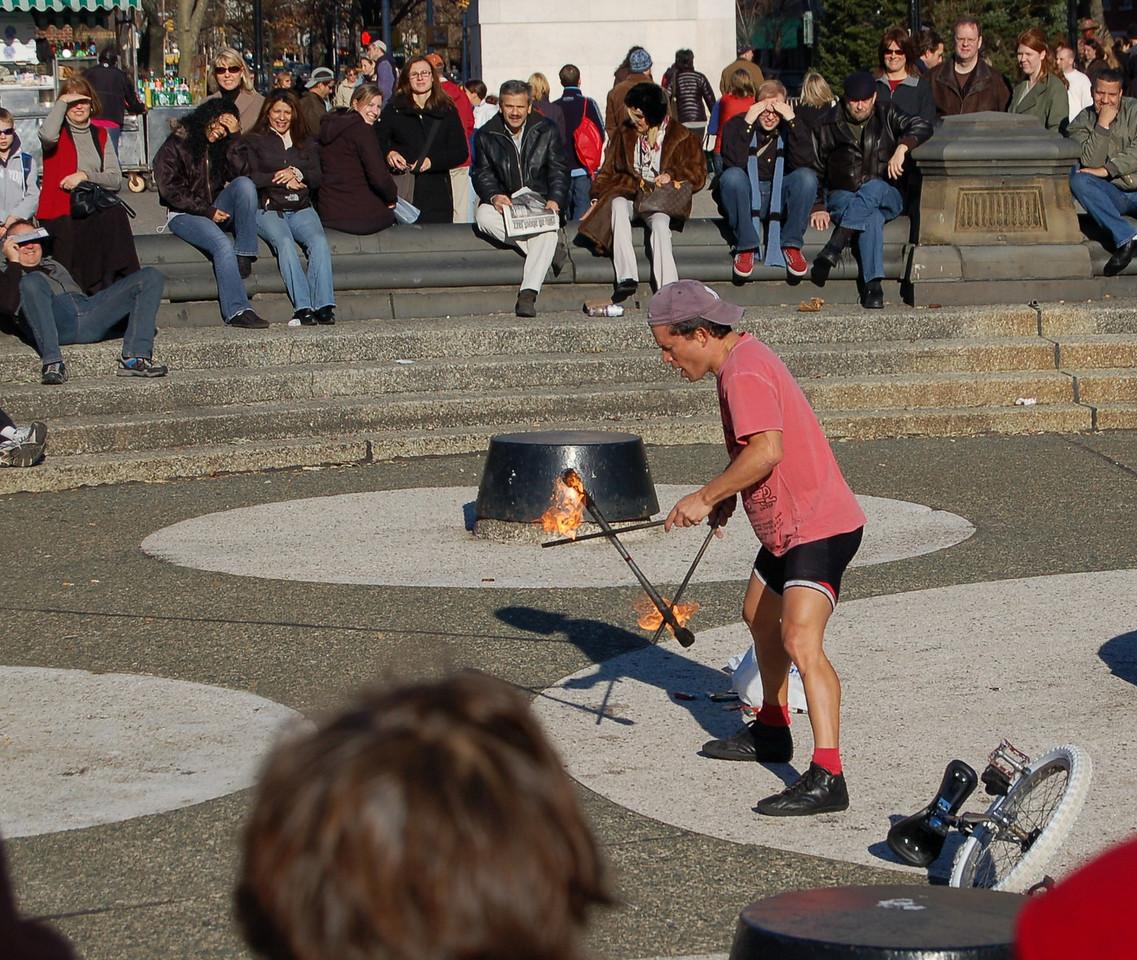 Fire juggler, Chelsea