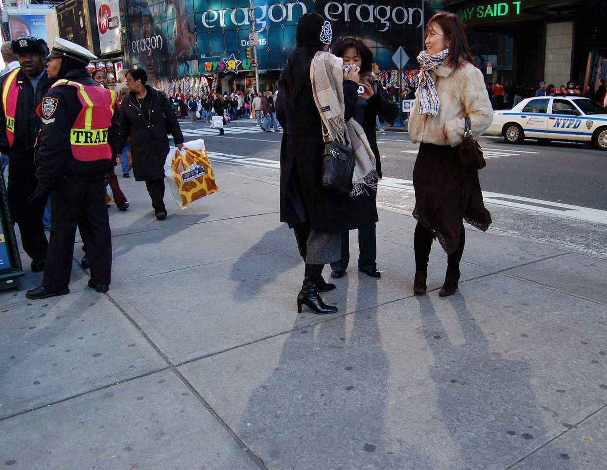 Tourists in Time Square