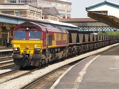 66082 arrives at the signal at 1310 and remained until 1535 on an empty MGR working to Newport Docks.