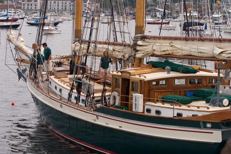 A beautiful wooden yacht.