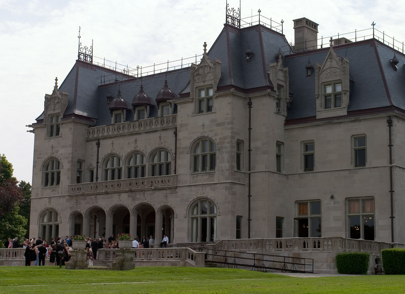 Ochre Court, by Richard Morris Hunt,<br />  completed in 1891, and now part of Salve Regina University.