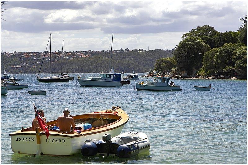 Sydney Harbour Wednesday November 1st 2006. <br /> <br /> Hermit Bay. <br /> <br /> <br /> EXIF DATA <br /> Canon 1D Mk II. EF 17-35 f/2.8L@35mm 1/400 f/9 ISO 200.