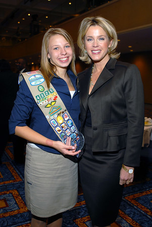 Deborah Norville & Hannah Kristine Walter, 2006 Future Woman of Distinction, Senior Girl Scout Troop #4235 Queens, New York at the 14th Annual Women of Distinction Breakfast, hosted by the Girl Scouts of Greater New York