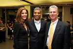 Lisa Gyselen of Contribute Magazine, Paul Cothran of VH1 Save the Music Foundation, Ralph Fisher of Mercedes Benz