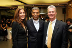 Contribute Magazine Publisher Lisa Gyselen, Paul Cothran of VH1 Save the Music Foundation, Ralph Fisher of Mercedes Benz