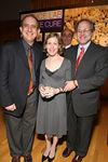 Associate Scientific Directors, Ethan Dmitrovsky, MD, Jonathan Licht with Mrs. Licht