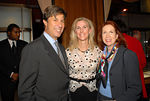 Eric Rudin, Fiona Rudin & Diane Schoenthal at Cartier for a Cocktail Party to Celebrate the Central Park Conservancy's Halloween Ball