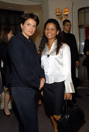 Maria Crawley Bayazid of Cartier with Amelia Alonso of the Central Park Conservancy