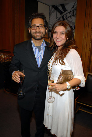 George & Elena Stephanopoulos at Cartier for a Cocktail Party to Celebrate the Central Park Conservancy's Halloween Ball