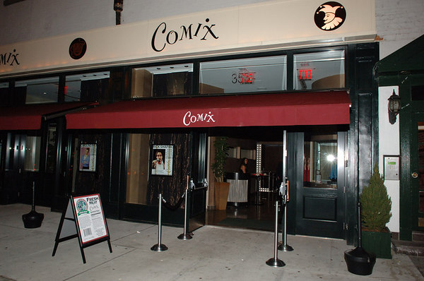 "<a href=""http://www.comixny.com/"">Comix</a> 353 West 14th Street (Just East of 9th Avenue) New York, NY 10014"